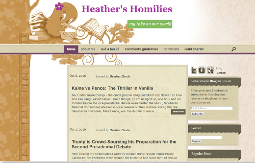 Heather's Homilies
